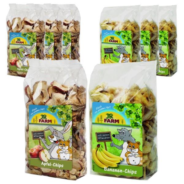 JR Farm Bananen- und Apfel-Chips Ergänzungsfutter 8x150g