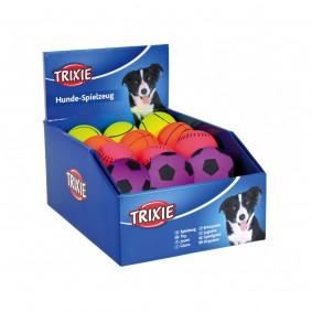 Trixie 6 Bälle aus Moosgummi 6 cm - Neonfarbe