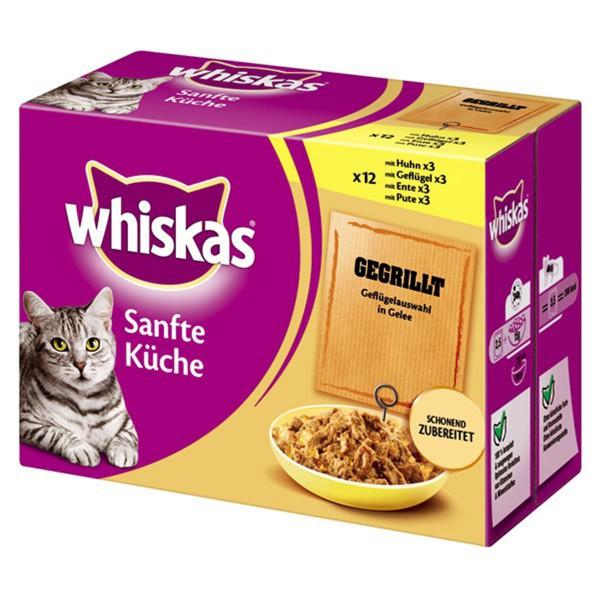 Whiskas Katzenfutter Sanfte Küche Geflügelauswahl in Gelee