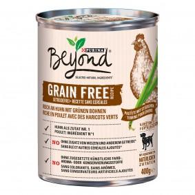 Purina BEYOND® Getreidefrei reich an Huhn mit grünen Bohnen, Pastete mit Stückchen