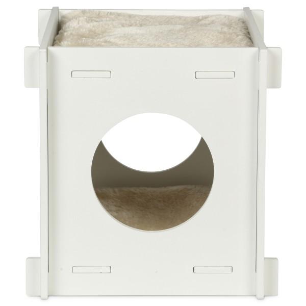 ZooRoyal Katzenhöhle Cube 37 cm weiß