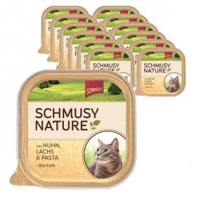 Schmusy Nature Huhn, Lachs & Pasta 16x100g