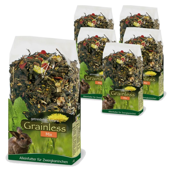 JR farm Grainless Mix Zwergkaninchen 6x650g