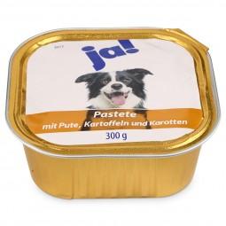 ja! Hundefutter Pastete mit Pute, Kartoffel und Karotten 300g