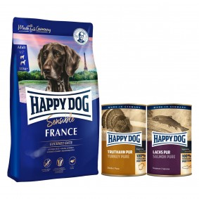 Happy Dog Supreme Sensible France 12,5kg + 400g Truthahn + 375g Lachs