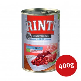 Rinti Nassfutter Kennerfleisch Junior mit Rind