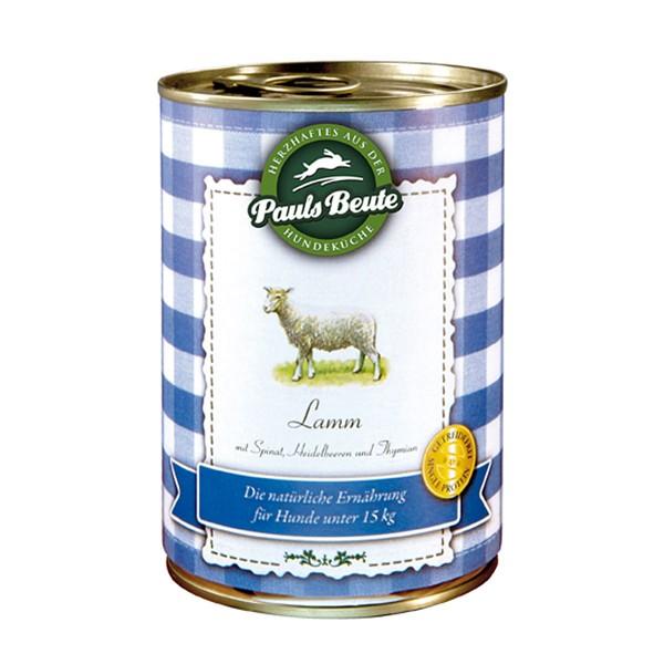 Pauls Beute Hundefutter Lamm - 6x400g