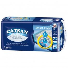 Catsan Smart Pack – Sac à litière prêt à poser (pack de 2)