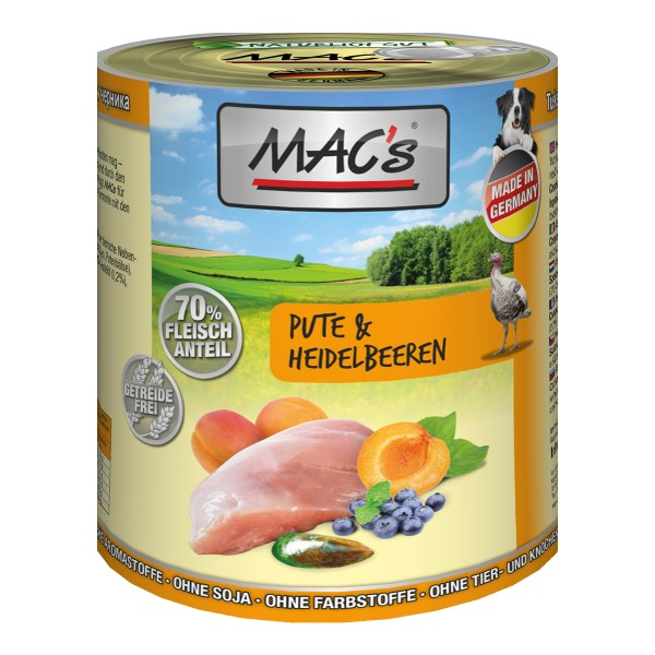 MAC's Dog Pute und Heidelbeeren