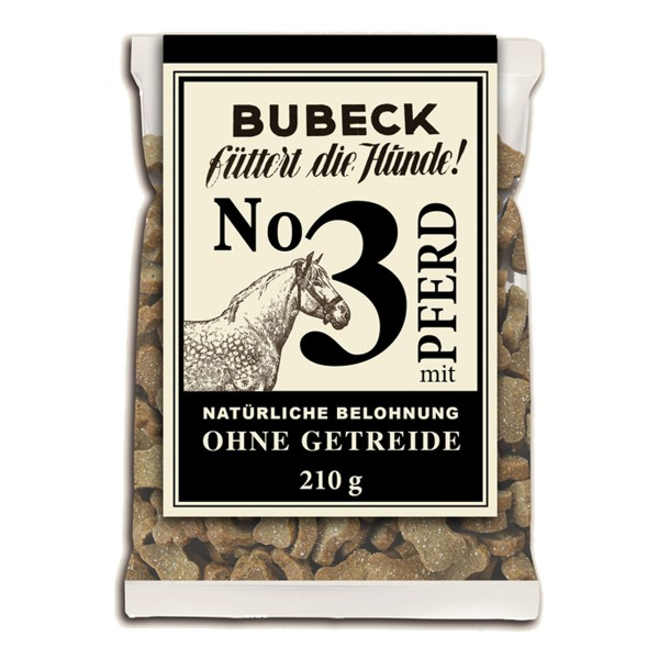 Bubeck Hundesnack No.3 Pferd 210g