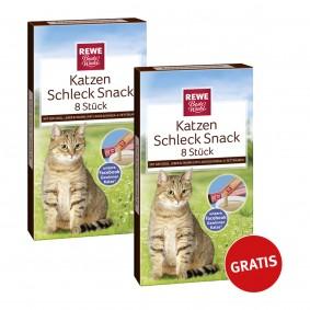 REWE Beste Wahl Katzen Schleck Snack 8 plus 8 Stück gratis