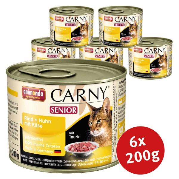 Animonda Katzen-Nassfutter Carny Senior Rind, Huhn mit Käse