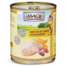 MAC's Cat Katzenfutter Huhn Pur mit ganzen Geflügelherzen
