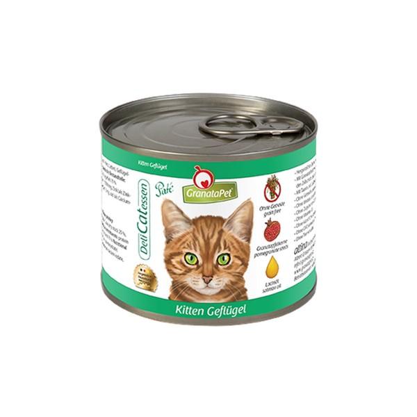 GranataPet Nassfutter DeliCatEssen Kitten Geflügel PUR 200g