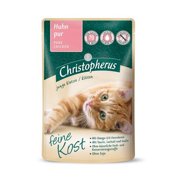 Christopherus Katze Kitten Huhn pur 12x85g