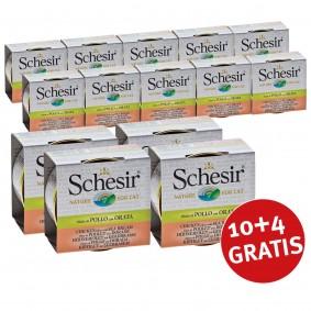 Schesir 10+4 Gratis Hühnerfilet in Brühe mit Goldbrasse und Reis 70g