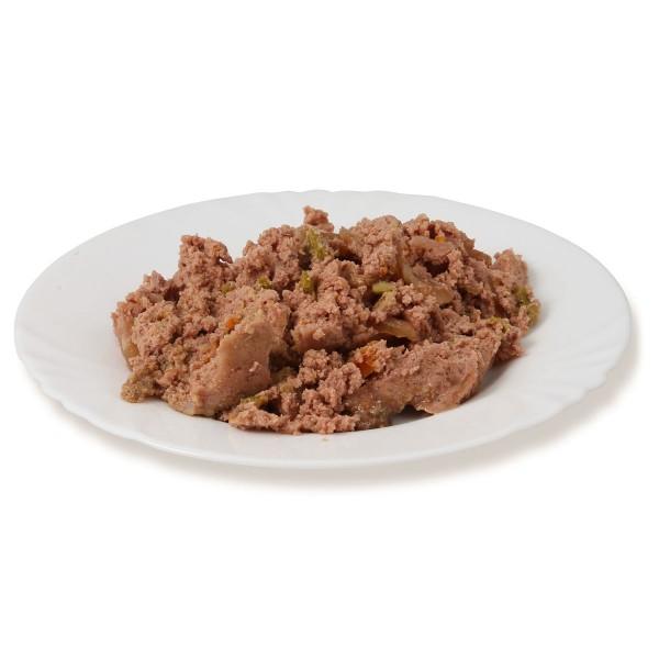 Landfleisch Hudefutter Dog Pur Geflügel und Lachsfilet
