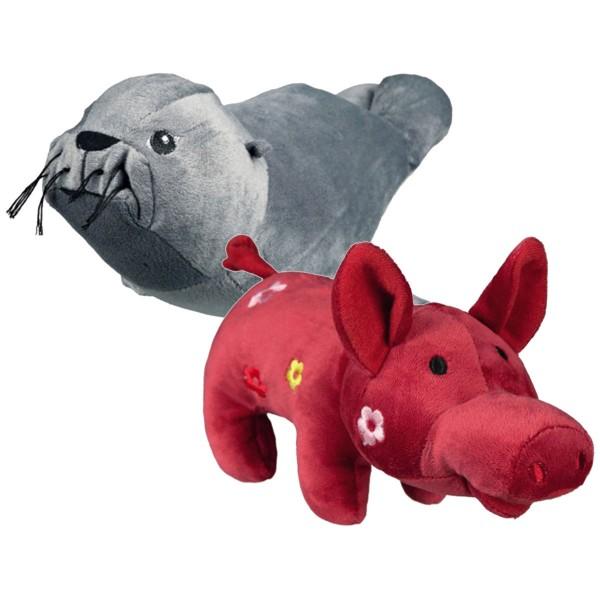 Trixie Hunde-Spielzeug Plüsch-Set Robbe & Schwein