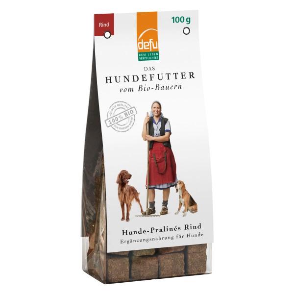 Defu Hundesnack Bio Pralines Rind 100g