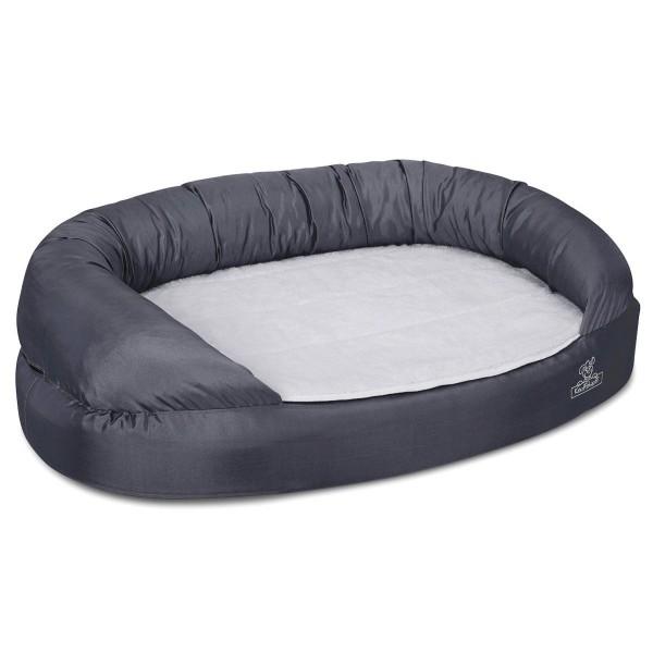 Knuffelwuff Orthopädisches Hundebett Jessy 4XL 155x105x33cm - Grau