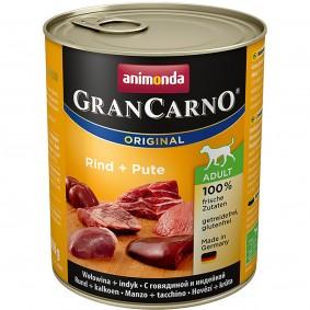 Animonda Hunde-Nassfutter GranCarno Adult Rind und Pute