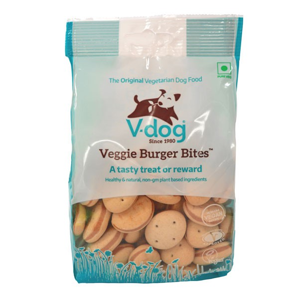 V-Dog Hundesnack Veggie Burger Bites 250g