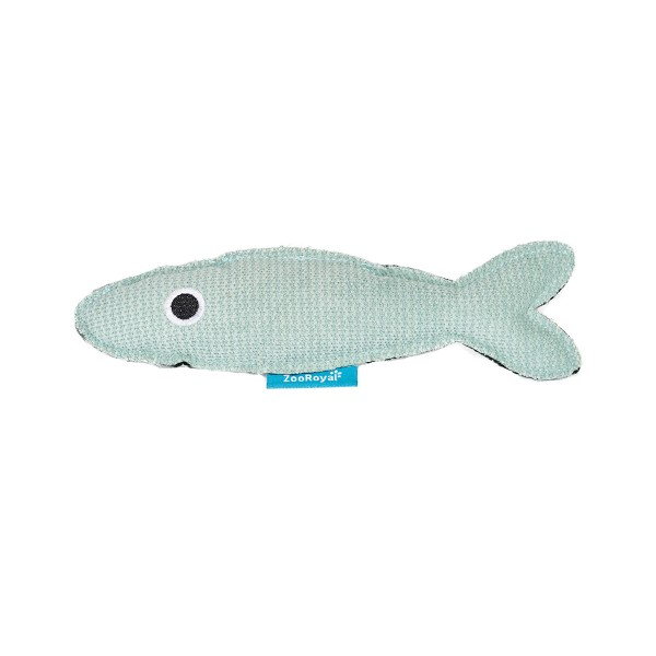 ZooRoyal Katzenspielzeug Fisch mit Katzenminze Petrol