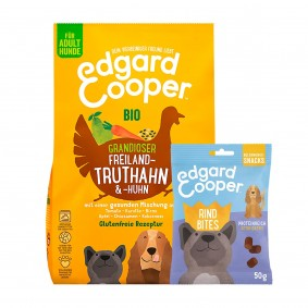 Edgard & Cooper Bio Truthahn & Bio Huhn 7kg + 50g Bites Rind gratis