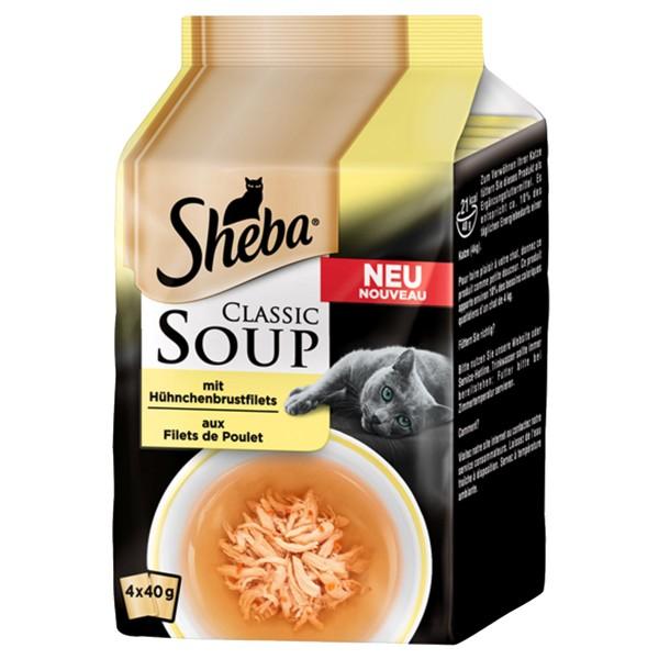Sheba Soup Hühnchenbrustfilet Multipack 4x40g