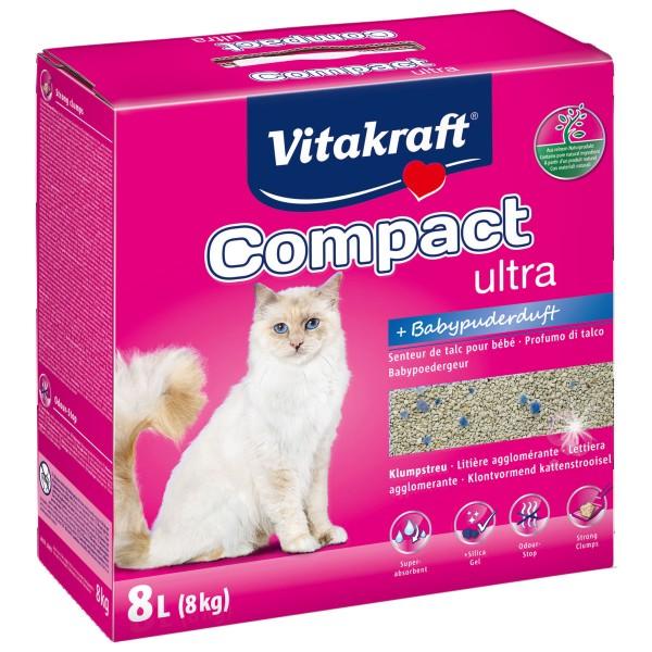 Vitakraft Katzenstreu Compact ultra plus 8kg