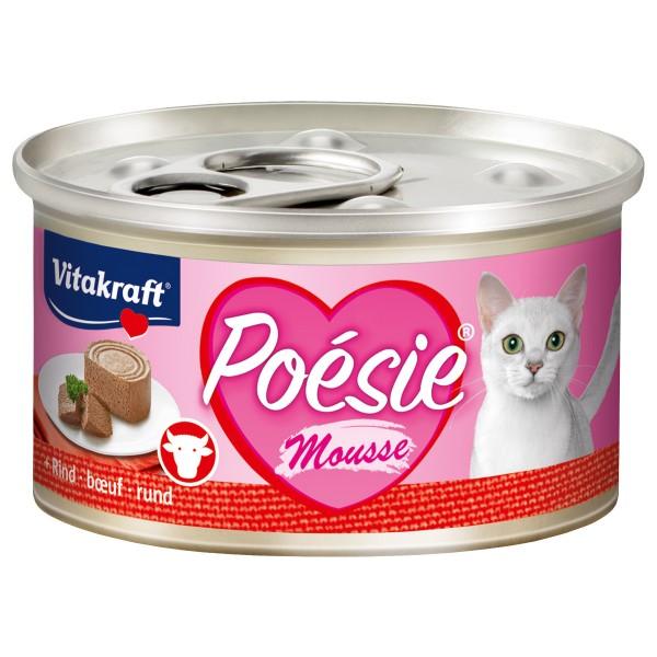 Vitakraft Katzenfutter Poésie Mousse Rind 12x85g