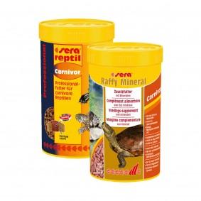 Sera Probierpaket Raffy Mineral + Professional Carnivor 250ml