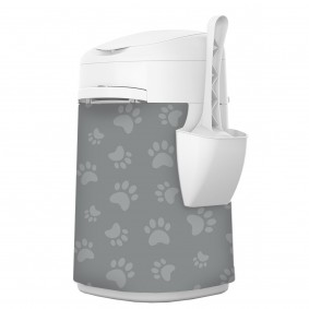 LitterLocker® Fashion Stoff-Bezug Cat paws grey