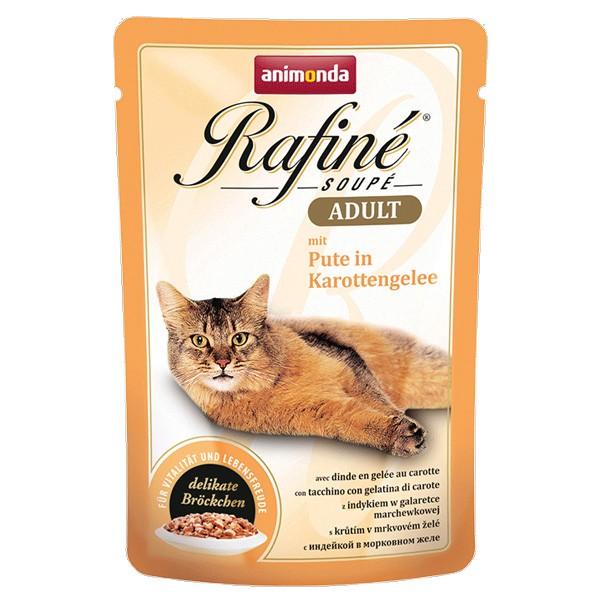 Animonda Katzenfutter Rafiné Soupé Adult mit Pute in Karottengelee