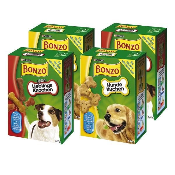 Bonzo Hundesnacks 6kg Mixpaket Hundekuchen + Kleine Lieblingsknochen