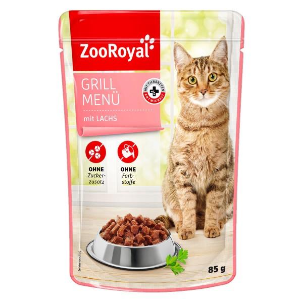 ZooRoyal Katzen-Nassfutter Grill Menü mit Lachs...