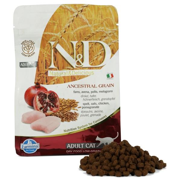 Farmina N&D Katzenfutter Adult getreidearm Huhn und Granatapfel 300g
