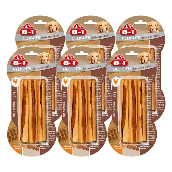 8in1 Hundesnack Delights BBQ Sticks 6x3 Stück