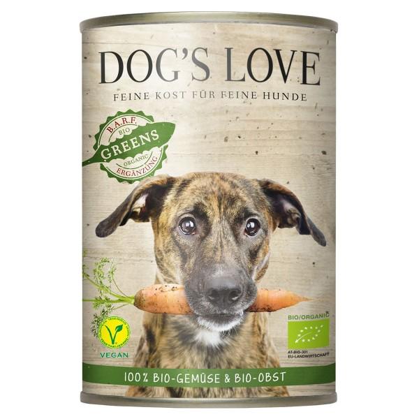 Dog's Love Hunde-Nassfutter Bio Gartenernte Vegan 18x400g