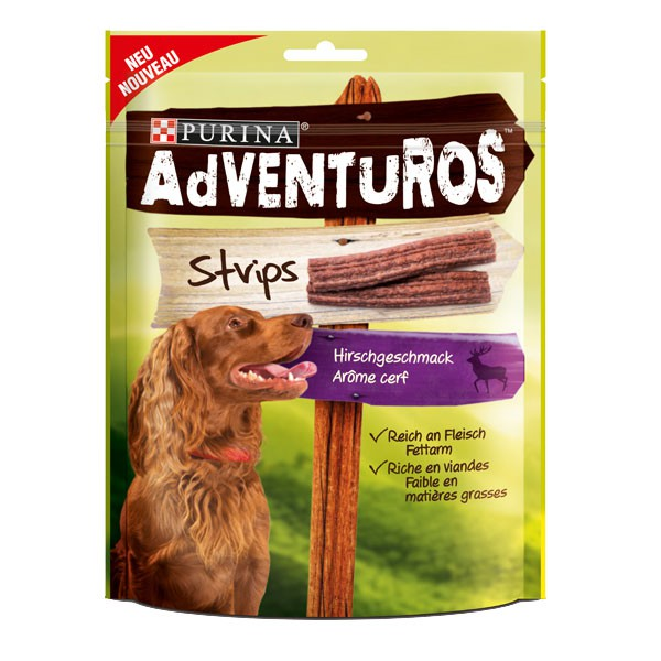 AdVENTuROS Hundesnack Strips 90g