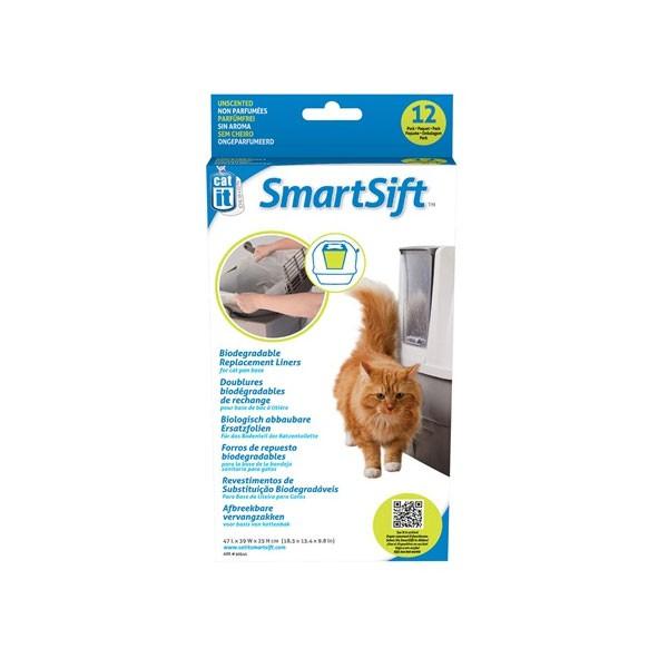 Catit SmartSift Ersatzfolie für Bodenteil 12er Pack