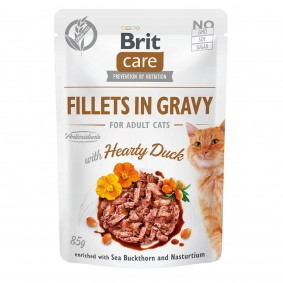 Brit Care Cat Fillets in Gravy with Hearty Duck