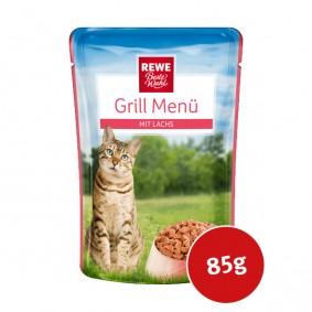 REWE Beste Wahl Katzenfutter Grill Menü Lachs