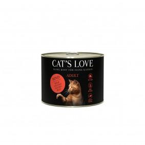 Cat's Love Nassfutter Rind Pur mit Distelöl und Löwenzahn