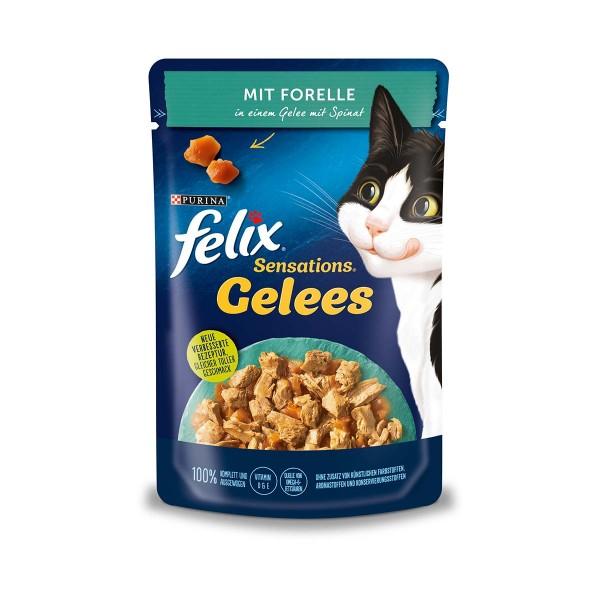 FELIX Sensations Gelees mit Forelle & Spinat