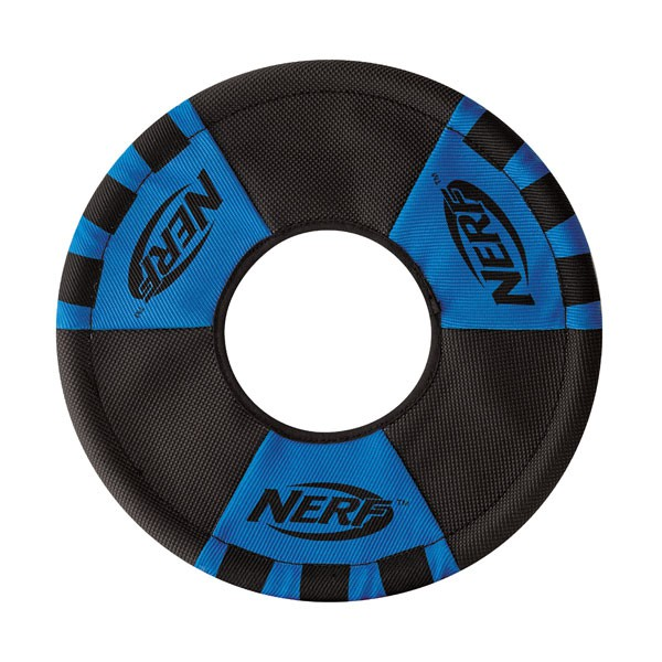 NERF Dog Zieh-Wurfring Blau/Orange 28cm