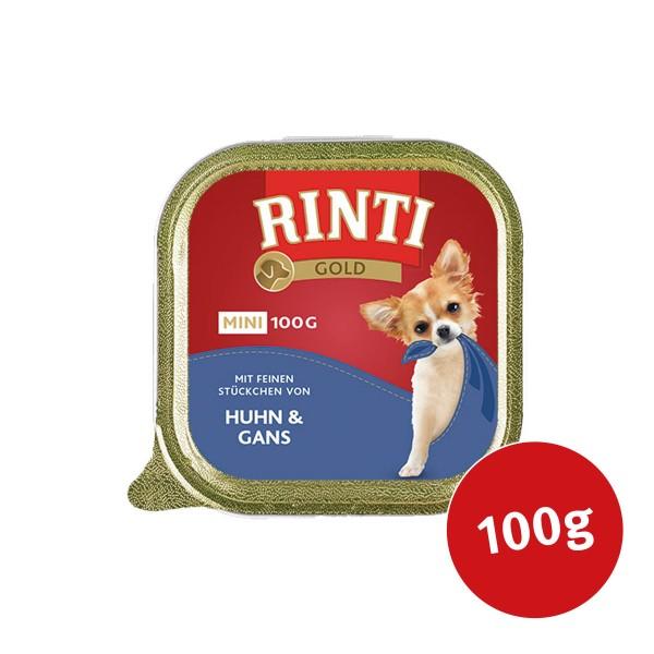 Rinti Gold Mini mit feinen Stückchen von Huhn und Gans