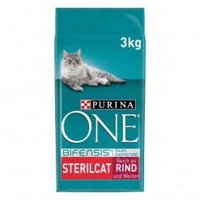 PURINA ONE BIFENSIS STERILCAT Katzenfutter trocken für sterilisierte Katzen Rind