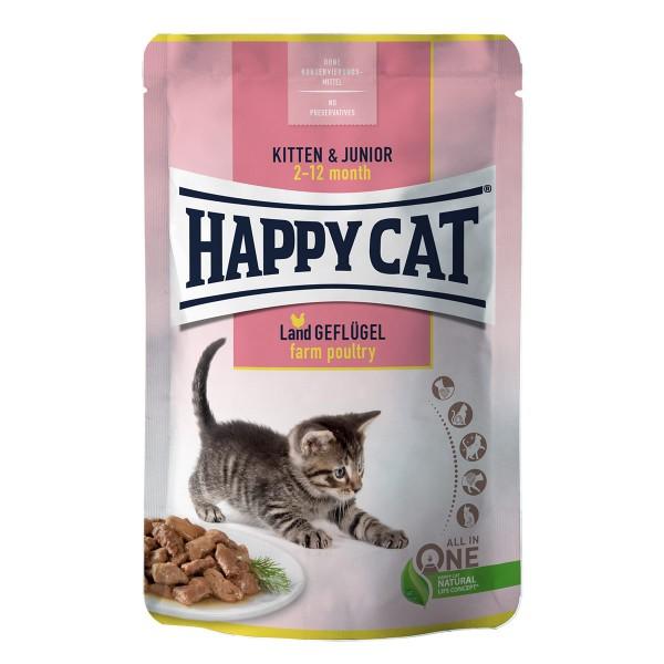 Happy Cat Kitten & Junior Land Geflügel Pouch