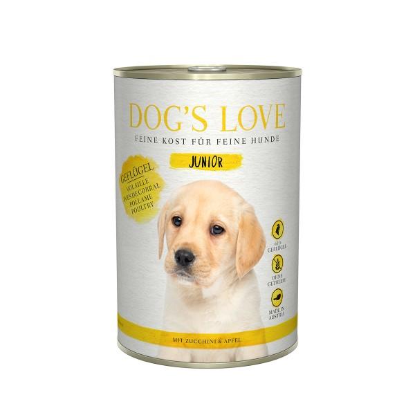 Dog's Love Junior Geflügel mit Zucchini und Apfel
